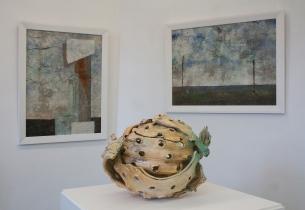 Karl Fulle, keramische Objekte, Axel Müller, Malerei, Galerie 10 Berlin Lichtenberg 2016